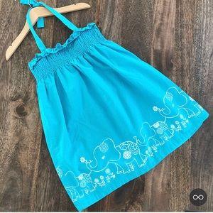 5/$30 Crazy 8 Blue Elephant halter Dress 3T Guc